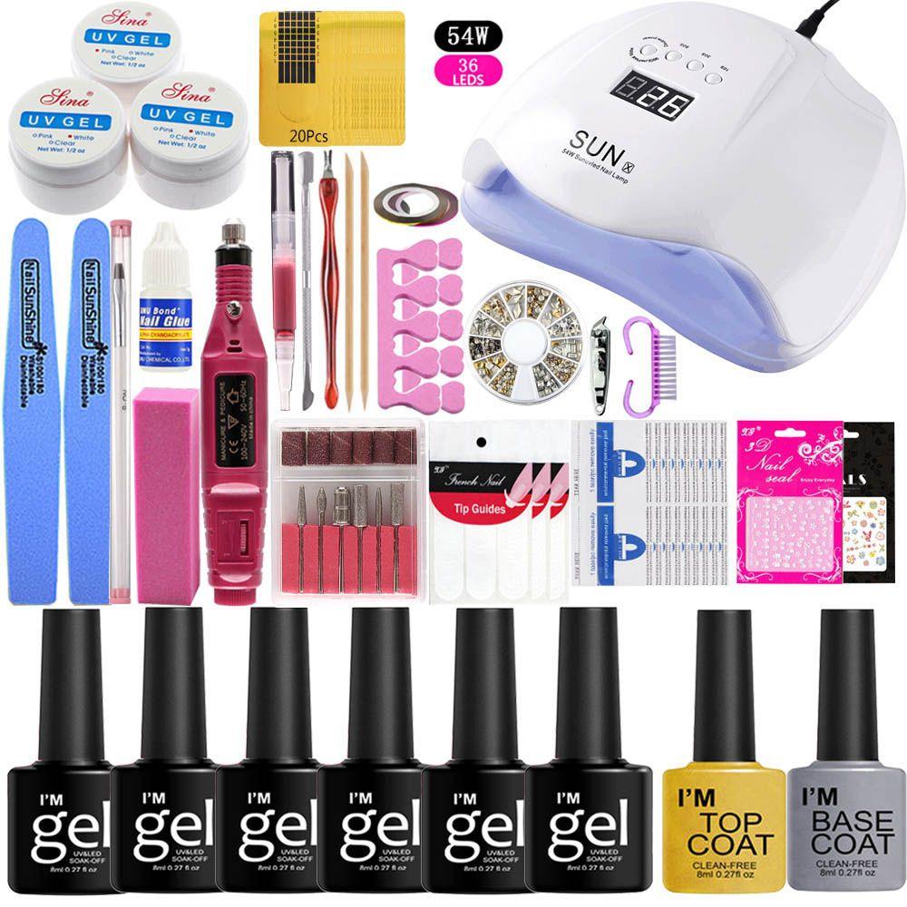 Acryl Pulver Für Nagelverlängerung Tipps weiß Klar Rosa Nail Art Nagelpflege Produkt Wählen Jede 6 Stücke
