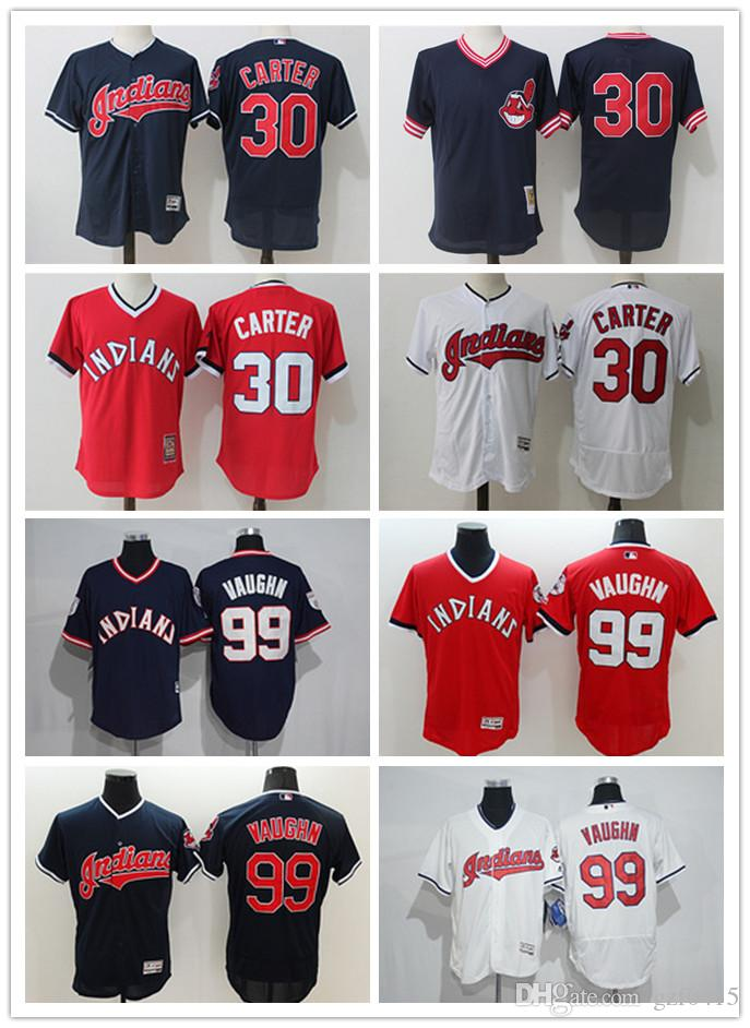 ... purchase 2018 mens women youth majestic cleveland indians jersey 99  ricky vaughn 30 joe carter authentic f29f0df0e