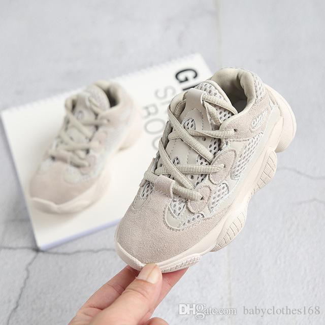 cdfb54ea52804 Großhandel Jungen Markenschuhe Kinder Sneaker Sportschuhe Schwarze Und  Beige Mesh Atmungsaktive Laufschuhe Für Mädchen Von Babyclothes168