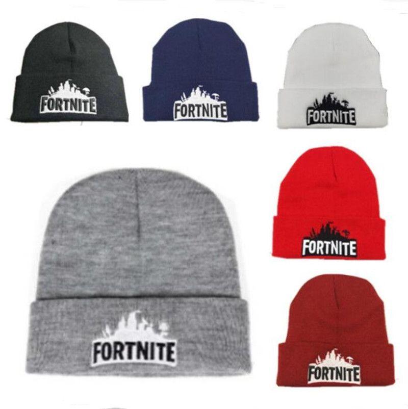 98e5ffba72 Game Fortnite Knitted Hats Battle Royale Beanie Winter Warm Skull ...