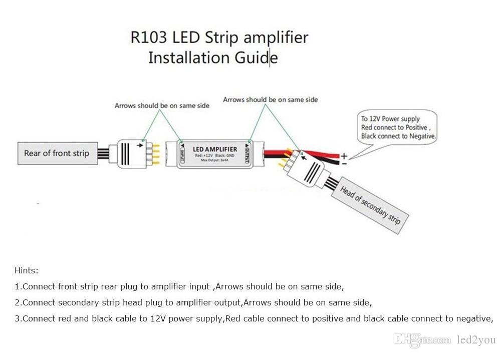 DC12V 3 * 4A 144W 휴대용 미니 RGB LED 스트립 증폭기 중계기 LED 스트립 RGB SMD 5050/2835/3528/5730/5630/3014