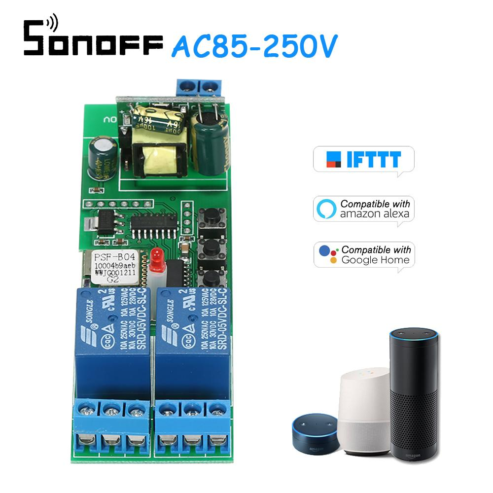 Sonoff 2CH AC85-250V Wireless Switch Phone APP Remote Control Smart Wifi  Switch Universal Automation Module for Smart Home