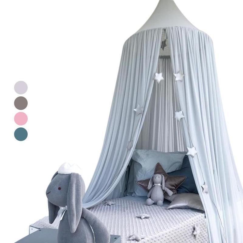 Großhandel Baby Kinder Bettwäsche Runde Dome Bett Baldachin Baumwolle  Leinen Moskitonetz Vorhang Moskitonetz Kinder Mädchen Zimmer 3 Von Huayama,  ...