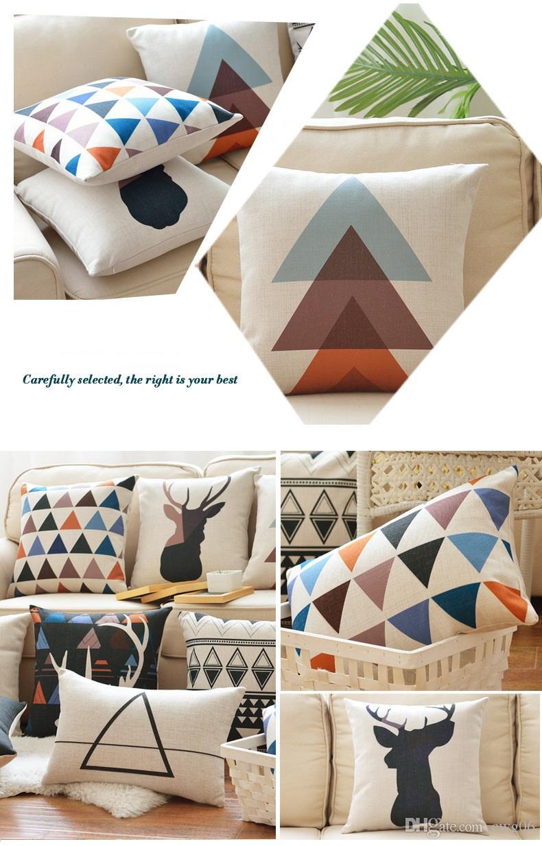Fashion High Quality Cotton Linen Decorative Throw Pillow Cushion Home Decor Pillows Cushions can customize product 45*45CM handmake