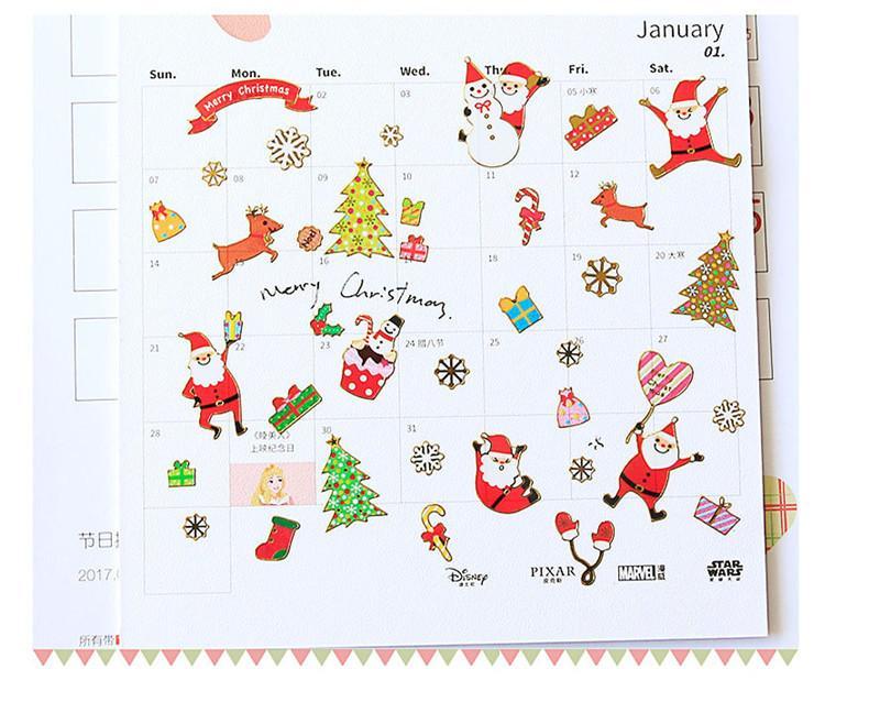 Compre Diy Etiqueta De Dibujos Animados De Navidad Papá Noel