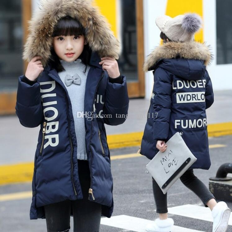 67c00c31984e Fashion Girl S Down Jackets 2018 Winter Russia Baby Coats Thick Duck ...