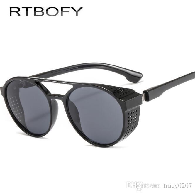 384000a506d1 Retro Round Sunglasses Men Vintage Brand Shades Male Black Sun Glasses For  Men 2018 Fashion Designer Retro Round Sunglasses Men Sunglasses Male  Sunglasses ...