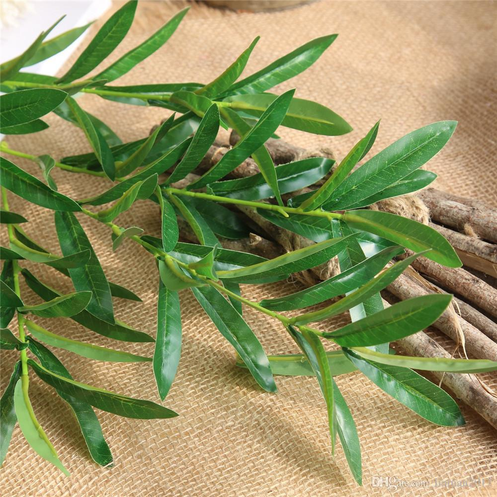 2019 97cm Artificial Olive Tree Branches With Olive Leaves For Home