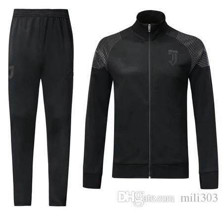 74b3a48be 2019 2018 2019 Juventus Soccer Jersey Tracksuits 18 19 Survetement RONALDO  DYBALA MANDZUKIC Football Jacket Training Suit From Mili303