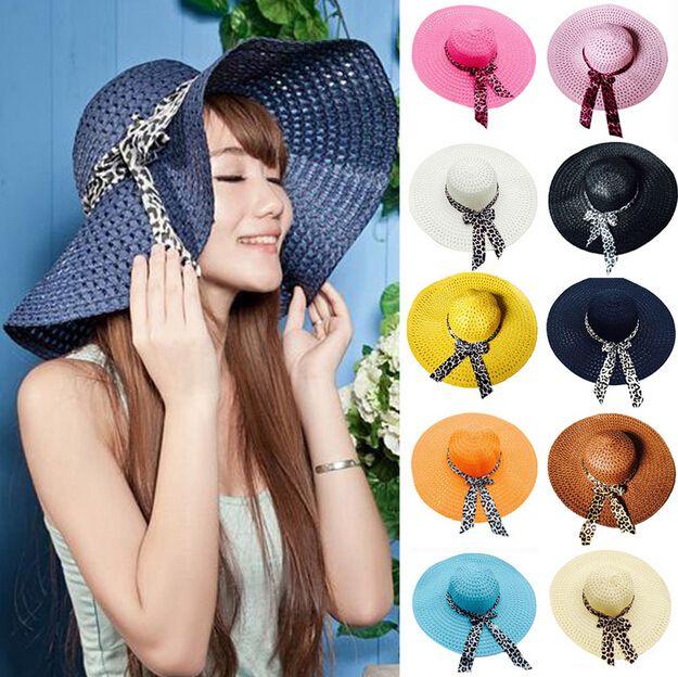 Big Brim Floppy Fold Chapéu de Sol Chapéus de Verão para As Mulheres de Proteção Chapéu De Palha Mulheres Chapéu de Praia
