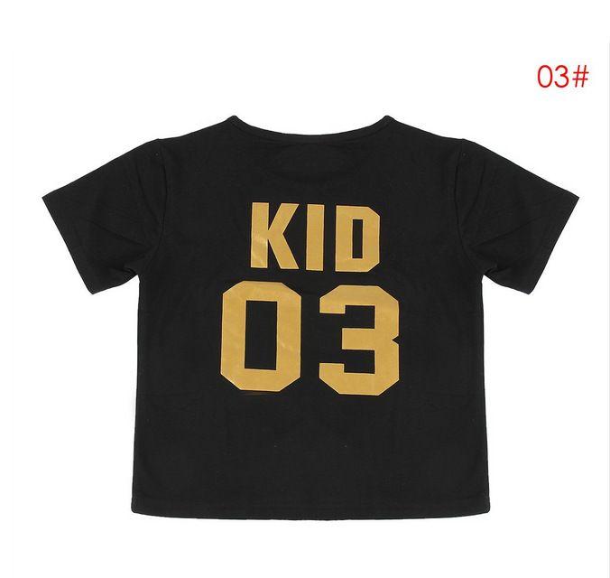 Смешные семьи соответствующие наряды черный золотой папа мама ребенок ребенок сортировка номер хлопка с коротким рукавом футболка интересная теплая семья одежда