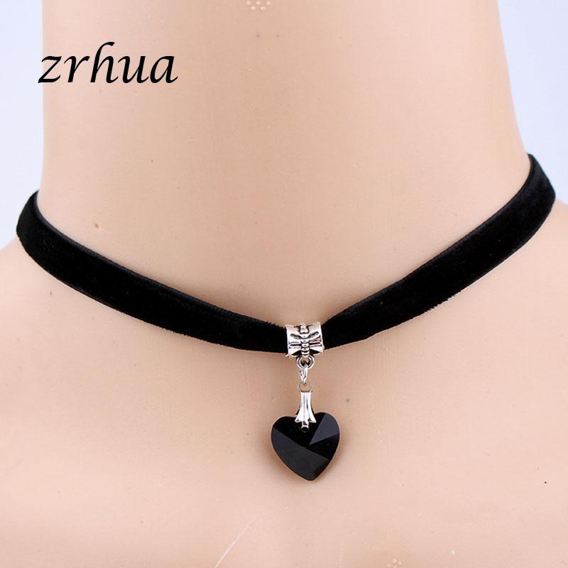 621c1a0cc39e Compre ZRHUA Moda Trendy Sexy Gargantillas Collar Collar Joyas De Mujer  Accesorios De Cuello Gargantillas Collares Clavícula Para Niñas A  32.97  Del ...