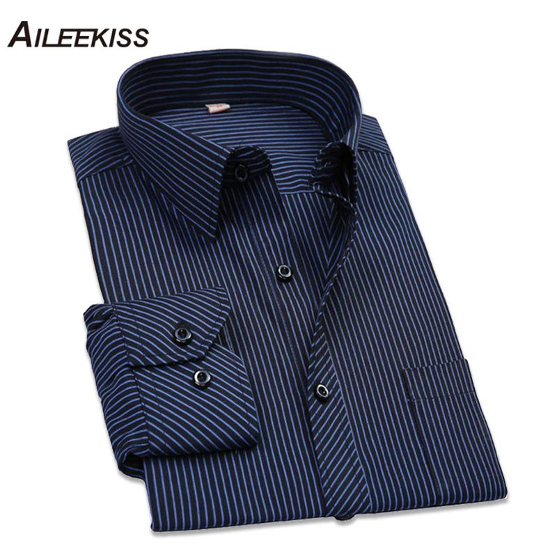 2018 Hommes Manches Longues Acheter Rayures Chemise À Coton Solide wadzdvqf f4d088867fa