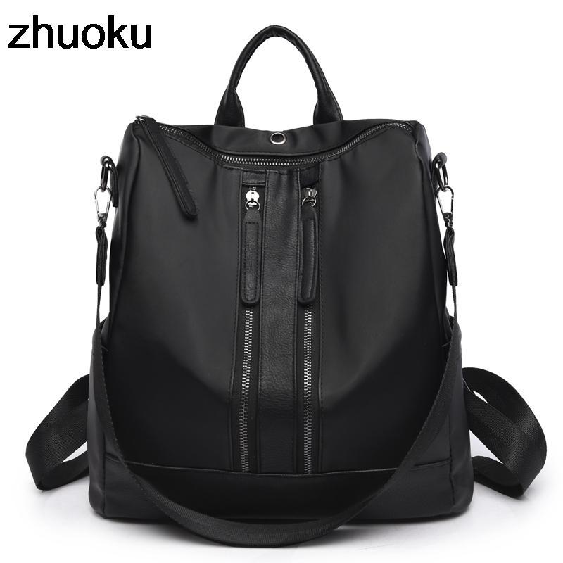 dfbba2ea410e Oxford School Backpack For Girls Shoulder Bag Feminina Mujer Casual Female  Backpacks Multifunction Women Laptop Schoolbag Y18110202 Black Backpack  Camera ...