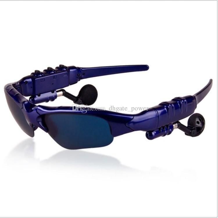 2018 new Smart Glasses Bluetooth V4.1 Sunglass safe driving Sun Glass Sports Headset MP3 Player Wireless Earphones Bluetooth Eyeglasses DHL