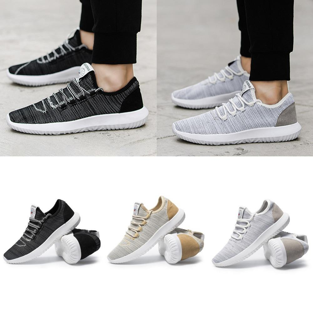 55e388cfd82 Men s Comfortable Breathable Fall Absorb Sweat Running Shoes Plus ...