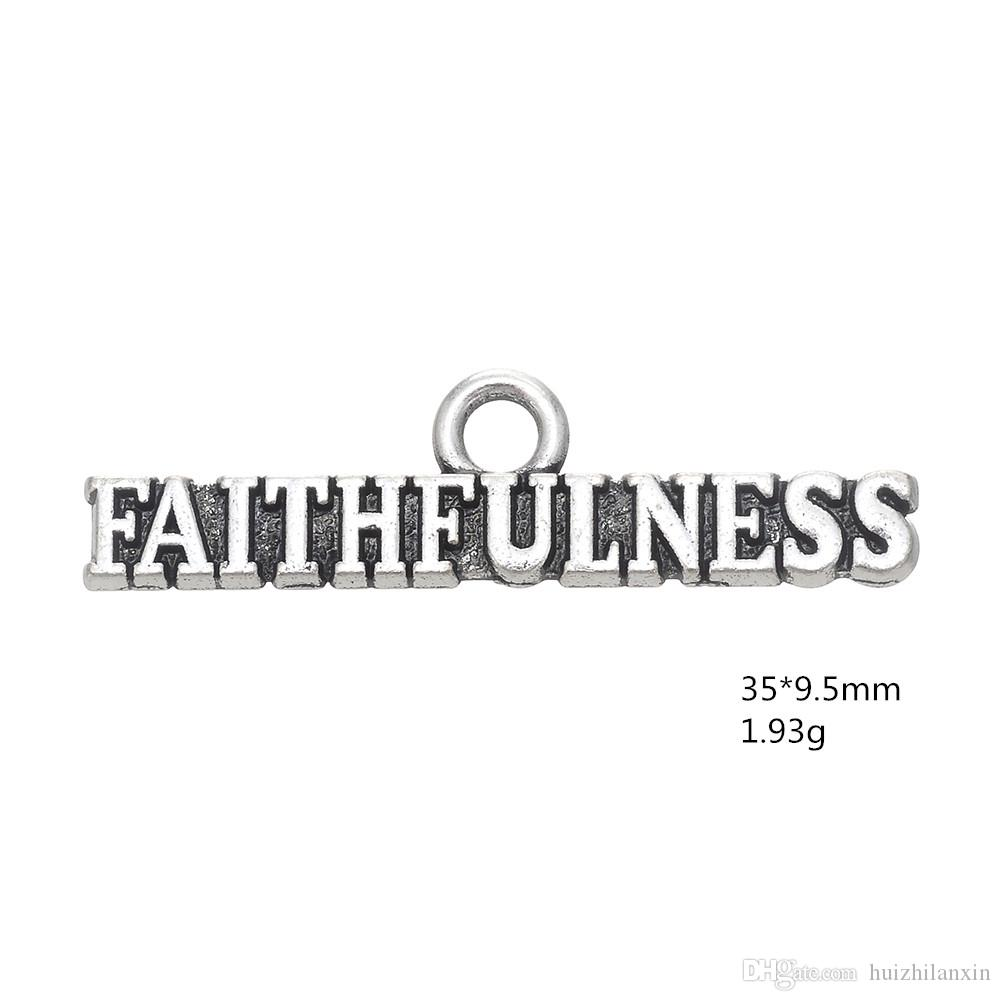 European American Style Letter Pendant Jewelry AIR FORCE Metal Alloy Charms Dangle For DIY Jewelry