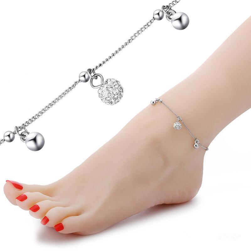 Moda shambala contas tornozeleiras mulheres sexy sandálias com os pés descalços tornozelo pulseiras verão praia corrente de ouro branco tornozeleiras pulseira snap jóias