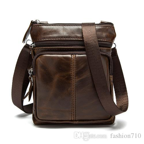 Messenger Bag Men Shoulder Bag Genuine Leather Small Male Man ... 36e6fb78bfbda