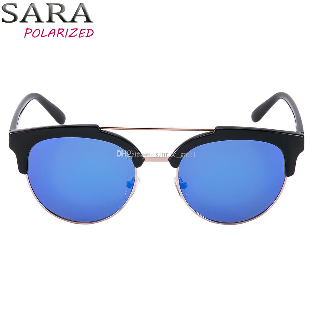 5e1b0382140c Free Trial SARA New Retro Polarized Sunglasses Men'S HD Polarizer Women'S  Round Glasses LOGO Or Without LOGO Prescription Sunglasses Glasses Frames  From ...