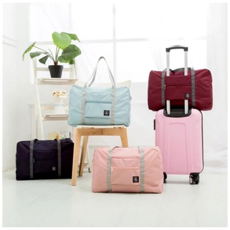 40343aca5d3b 2018 Girl Weekend Bag Waterproof Women Men Large Capacity Nylon Travel Bags  Folding Duffle Bag Organizer Packing Cubes Luggage