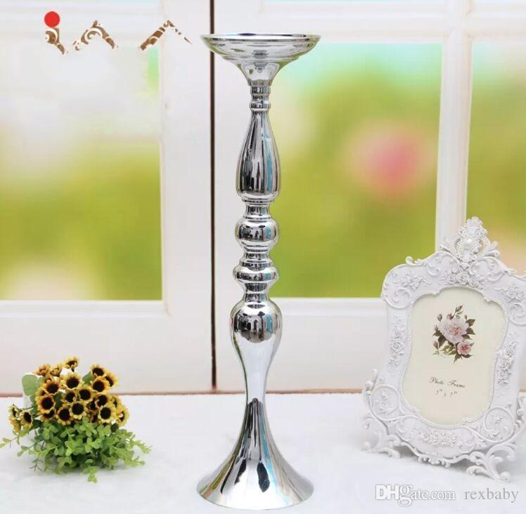 "! 50cm/20"" metal candle holder candle stick wedding centerpiece event road lead flower stands rack vase"