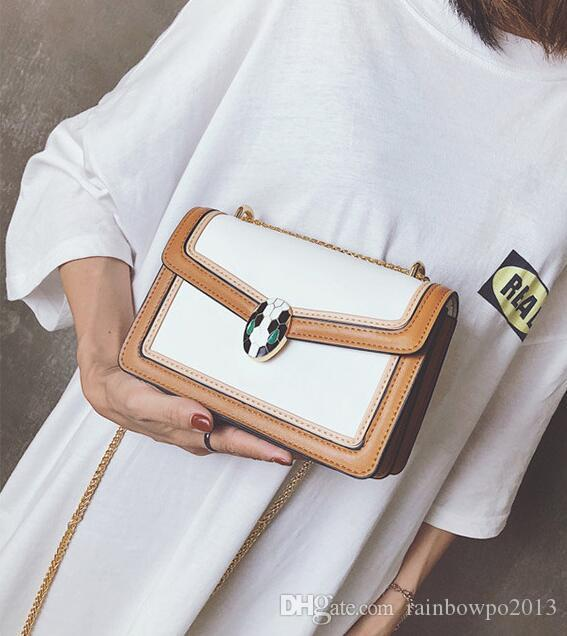 2fadabaa7f4 Direct Brand Women Bag Simple Contrast Leather Chain Bags ...