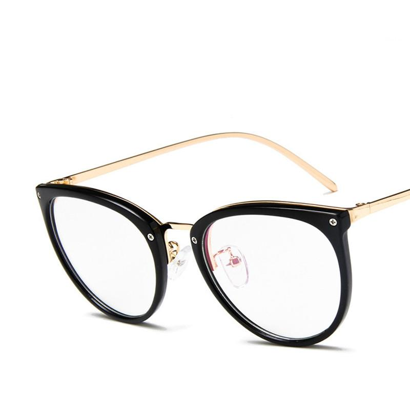 2fbbc651eaf 2019 2018 Women Cat Eye Glasses Frame Transparent Glasses For Female And Men  Decorative No Degree Eyeglasses From Watercup