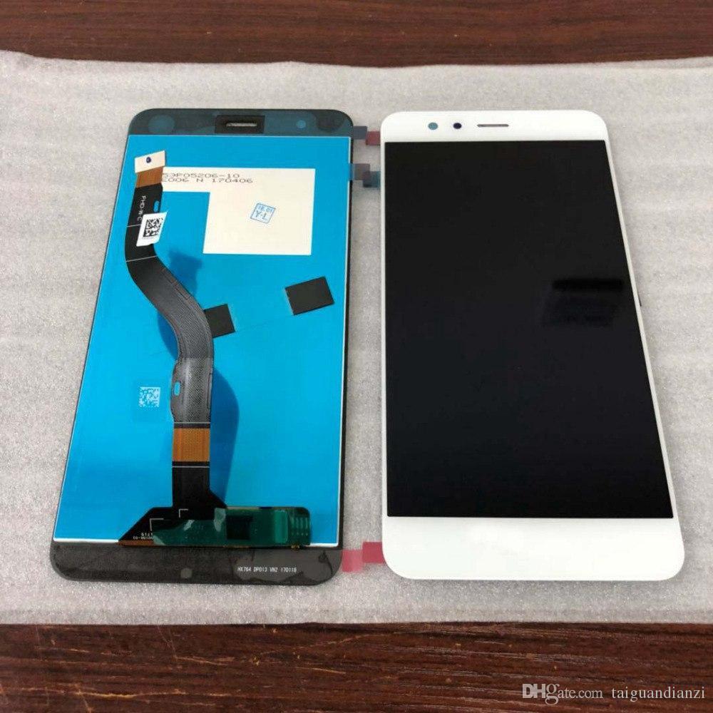 Original para Huawei P10 Lite P10Lite WAS-LX2 WAS-LX1A WAS-L03T WAS-LX3 Asamblea de digitalizador de pantalla táctil con marco táctil
