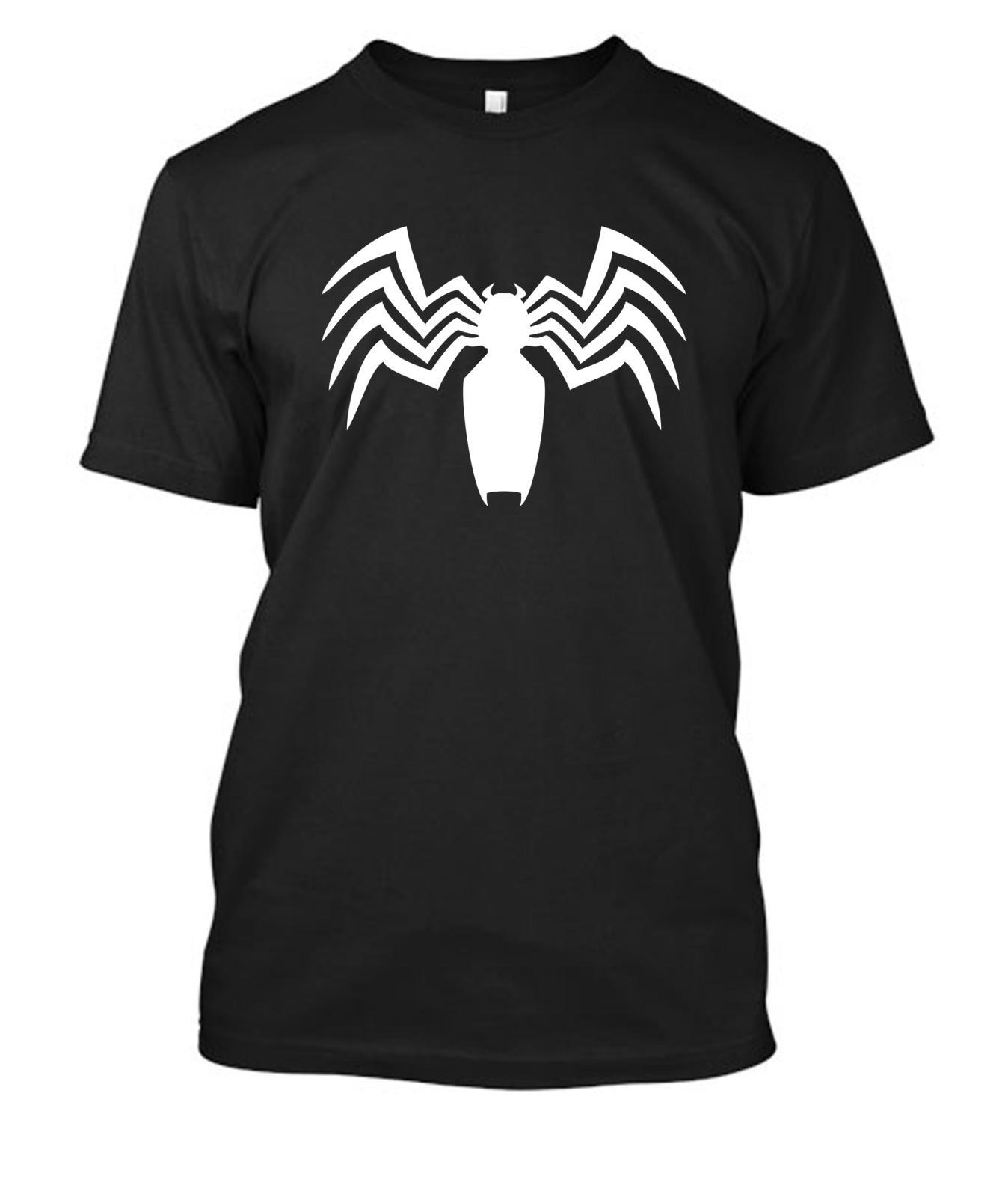 6f2ddd807 VENOM SPIDER LOGO Spiderman T Shirt Tee Shirt Tshirt Black Or White Vinyl  Print Funny Unisex Casual Tee Gift Crazy T Shirt Sayings Tee Shirt Shop  Online ...