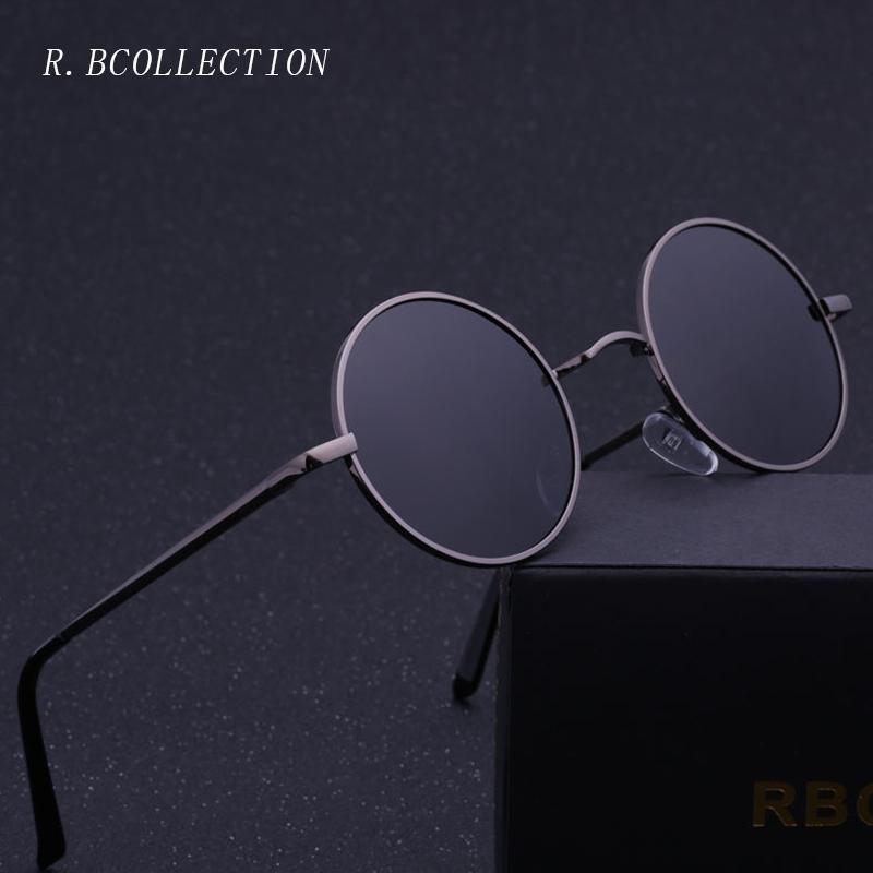 cafd18d9e52b R.BCOLLECTION Steampunk Round Sunglasses Men Women Anti UV Polarized Metal Frame  Retro Sun Glasses Mirror Gafas De Sol 801 C18110601 Sunglasses Online ...