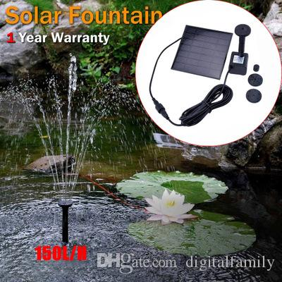 Special Section Solar Power Submersible Floating Fountain Plant Water Pump Pool Pond Decor Plumbing