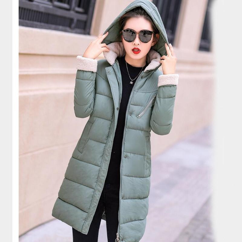 2ad10d643dc25 2018 New Parkas Female Women Winter Coat Thickening Cotton Winter Jacket  Womens Outwear Parkas For Women Winter Long Hooded D1891803 Ladies Jacket  Casual ...