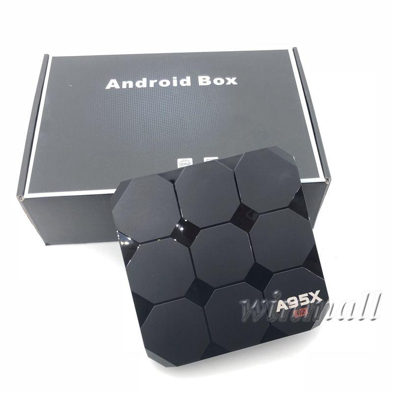 A95X R2 Smart TV Box Android 7.1 Quad Core Amlogic S905W Android TV Box Lecteur multimédia 2 Go 16 Go 4K HD WiFi