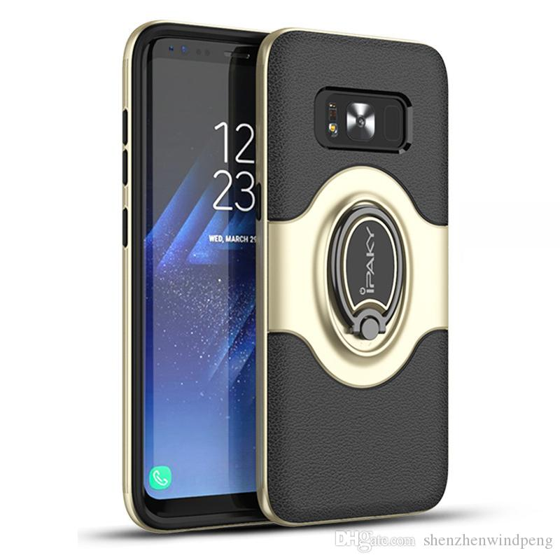 free shipping d8e7f 0e30f iPaky Case For Samsung Galaxy S8 Plus SM S8 Magnetic & Ring Stand Holder  Back Cover PC TPU Drop-proof Cases With Retail Package In Stock
