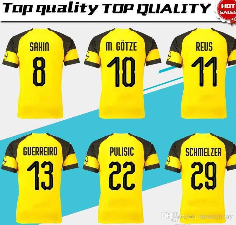 de5cfa838dd 2019 #11 REUS Home Soccer Jersey 18/19 Home Yellow Soccer Shirt ...