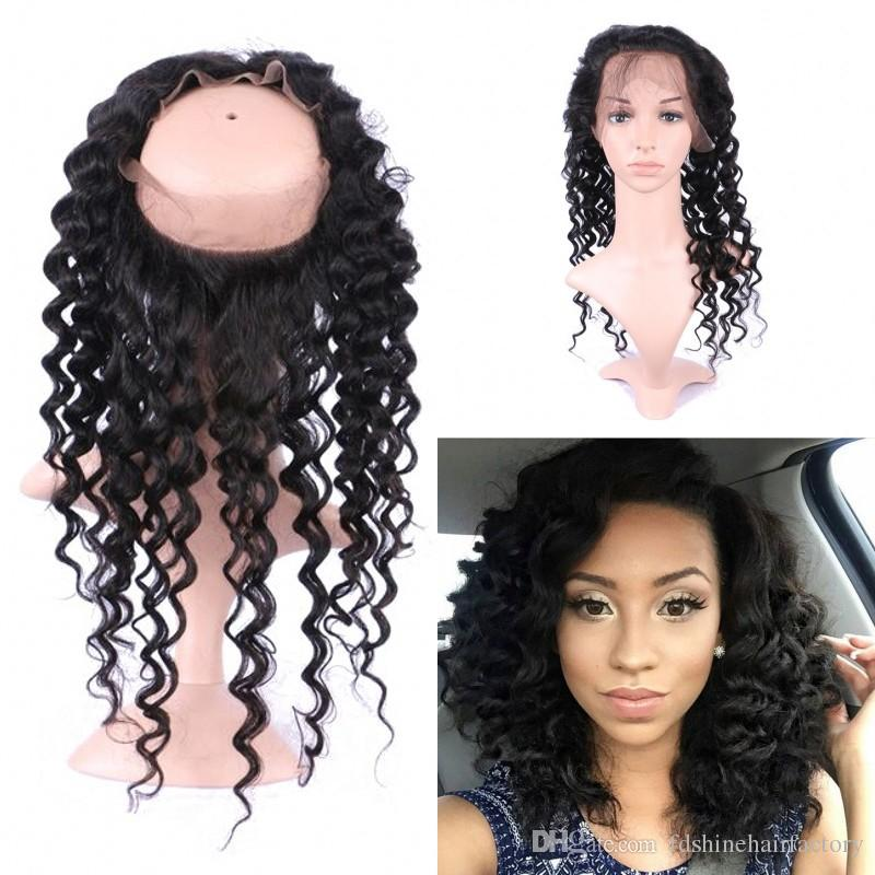 360 Deep Wave Lace Frontal Pre Plucked with Natural Hairline ... de0c4ed40a