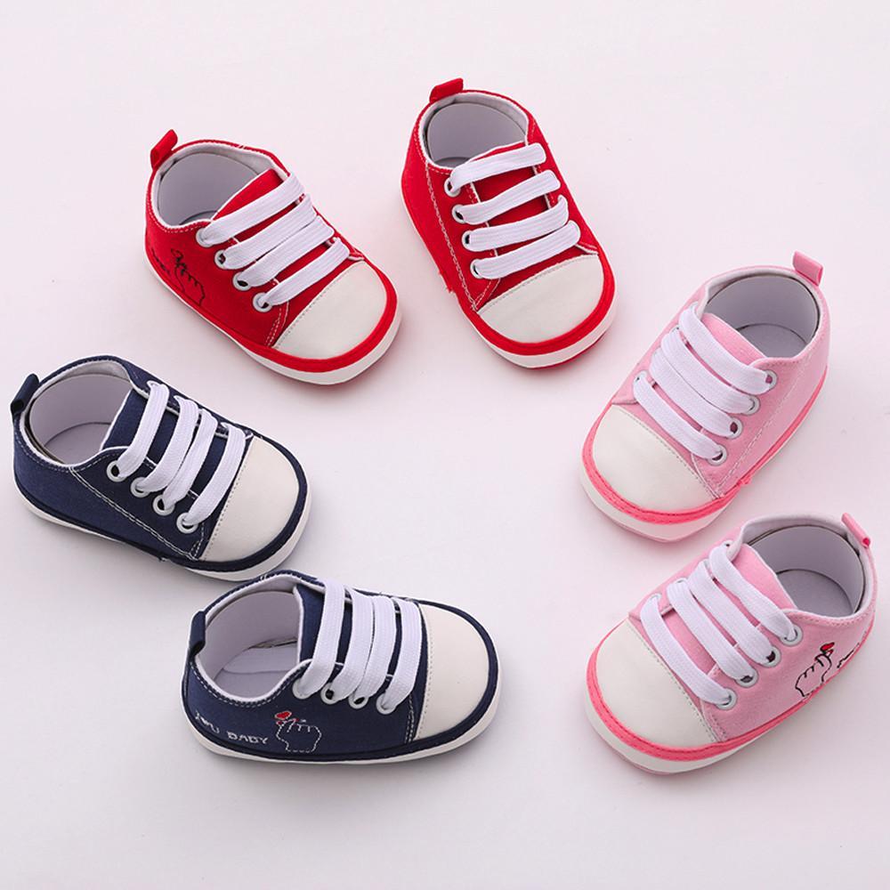737af7ba818be Acheter Bébé Premiers Marcheurs Chaussures Semelle Souple Infantile Sneaker  En Cuir PU Filles Garçons Marque Bébé Chaussures 0 18 Mois Nouveau Né  Enfants ...
