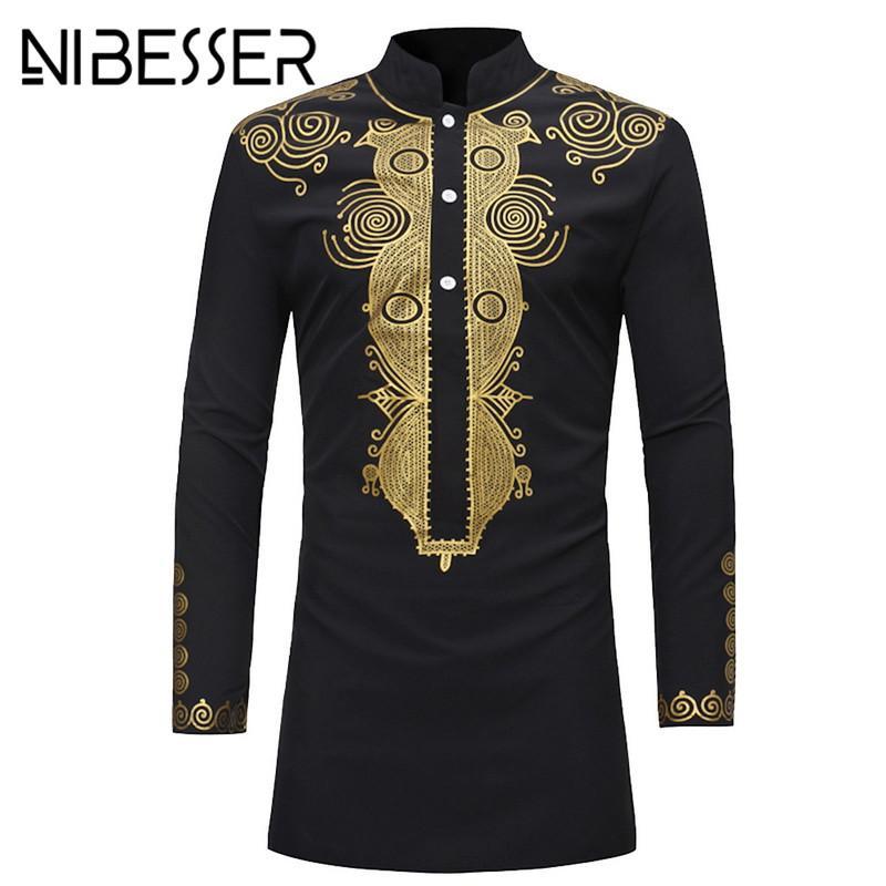 ec012497ae8a 2019 NIBESSER Men Dashiki Dress Shirt Summer African Clothing Man Fashion  Design Shirt African Traditional Printed Male Hippie From Maluokui