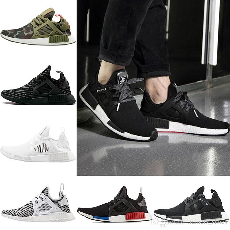 more photos ce80e 36e3c Acquista Adidas NMD R1 Boost 2018 Designer XR1 Mens Scarpe Da Corsa OG  Mastermind Japan Triple S Nero Bianco Zebra Olive Camo Donne Primeknit  Sport Sneakers ...