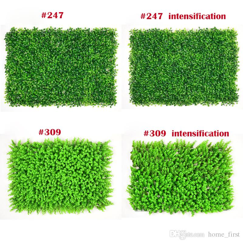 2019 Creative Atificial Turf Wall Milan Eucalyptus Plastic Proof Fake Grass  Lawn 60*40cm Outdoor Ivy Fence Bush Plant Wall Garden Decorations From