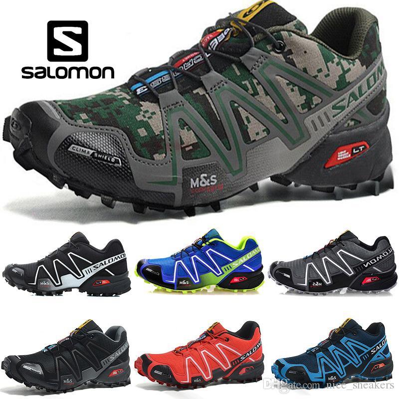 486c7a1aaa Compre Velocidade Salomon Cruz 3 CS Homens Mulheres Ao Ar Livre Sapatos De  Corrida SpeedCross Run Preto Verde Vermelho Azul Designer De Treinador Mens  ...