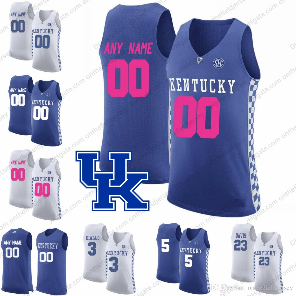 b9aaa895ecb 2019 Custom Kentucky Wildcats 2018 Mother Days Pink Basketball Jerseys Any  Name Number  5 Kevin Knox 3 Hamidou Diallo 23 Anthony Davis S 3XL From ...