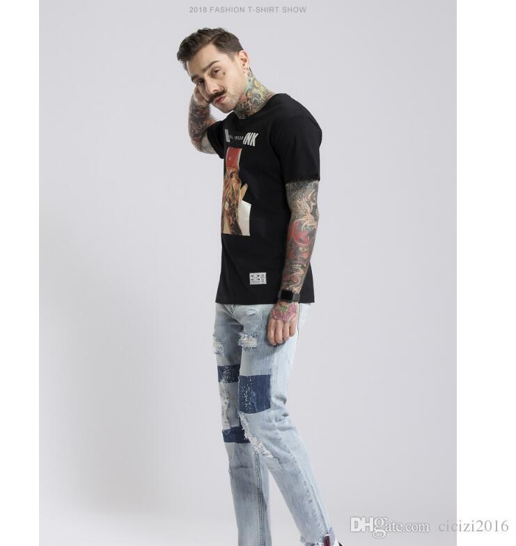 2018 Men T-shirt Fashion Pirate Printed Round Neck Short Sleeve Men Top Cotton Summer Plus Size 1805065