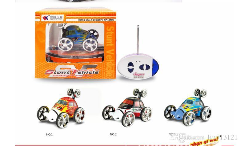 1PC/ Mini RC Stunt Car 360 Degree Rotation 4CH Radio Stunt Car Remote Control Vehicle RC Stunt Cars 3-Colors 2152 Car Toy