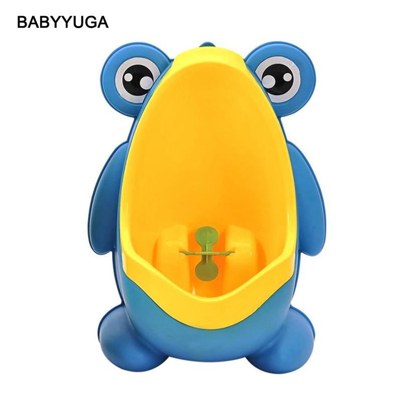 Cute Frog Baby Potty Toilet Urinals Boy Assento Sanitario Infantil Children Potty Toilet Training Kids Urinal Plastic Trainers