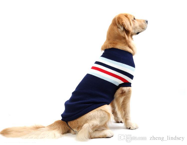 2019 Autumn Clothes For Dogs Four Legs Knit Pet Sweater Large Golden