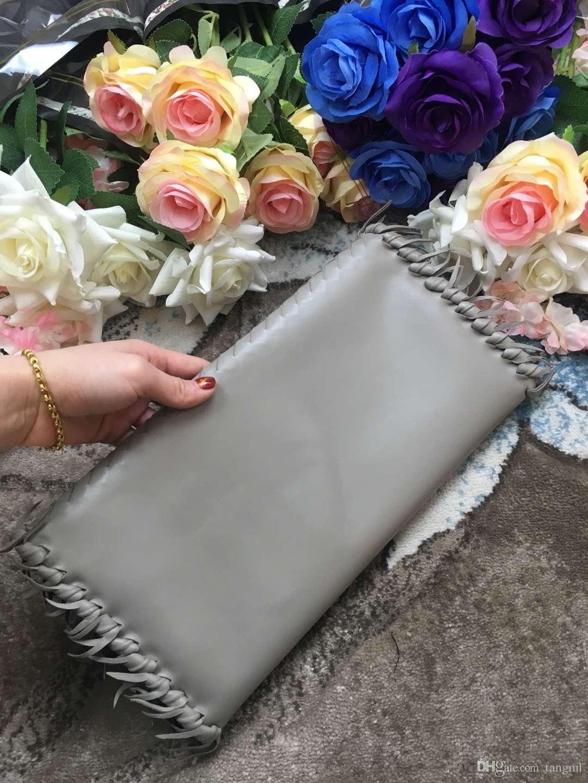 2018 donne a mano materiale uncinetto borsa da sera partito genuino pelle di pecora pelle morbida nappa borsa elegante moda kintting big bag bagB