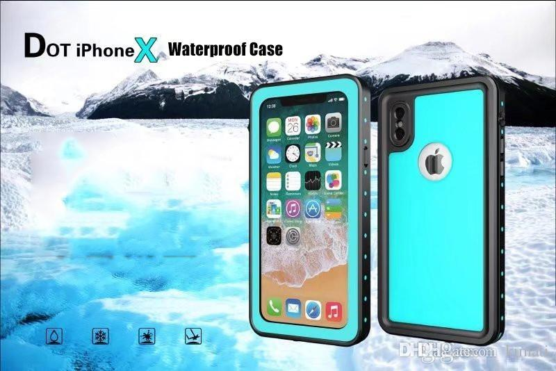 High Quality Armor IP68 Swimming Diving Waterproof Case For IPhone X Dot Series TPU Slim Dustproof Shockproof Phone Full Cover