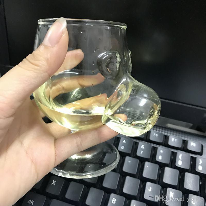 Creative Crystal Wine glass Cup Pig Nose Face Cute Whiskey Drinking Tumbler Glasses Milk Fruit Juice Cups Drinkware Bar Supply